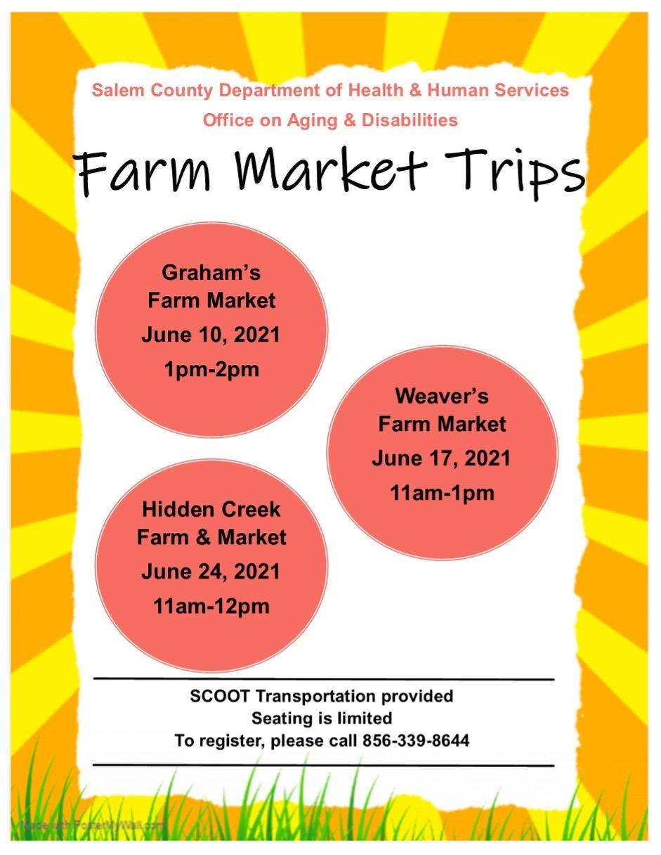 Farm Market Trips flier - english