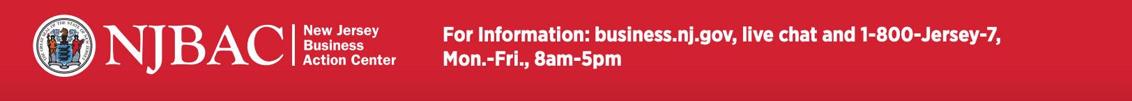 NJBAC for more information visit business.nj.gov